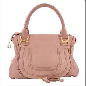 Chloe Marcie medium satchel coral / tan